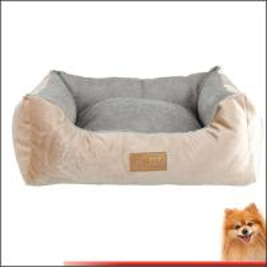 China pet dog beds Stripes short plush pp cotton pet beds china factory on sale
