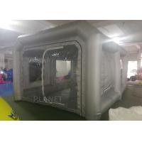 Buy cheap 6x4x3m UV resistant Silver inflatable car spray booth mobile inflatable painting station for car painting product