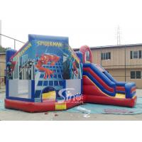 Buy cheap 6x5m kids spiderman inflatable jumping castle with slide for sale price from Sino Inflatables product