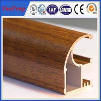 Buy cheap Wood finished aluminum extrusion profiles,aluminum window frames price for South Africa product