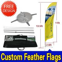 Buy cheap Custom Flying Banner Feather Flags Banner With Dye Sub Printing product