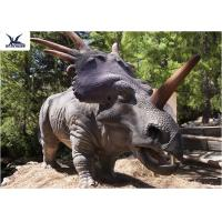 Buy cheap Playground Statues Dinosaur Yard Decorations Vivid With Infrared Ray Sensor product