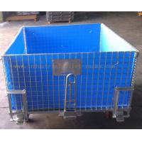 Quality 4 Side Bottom Plastic Board Steel Containers For Semi - Finished Cargo Protection for sale