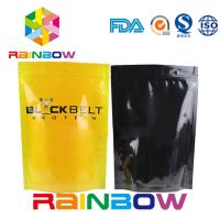 China Glossy Stand Up Supplements Aluminum Foil Pouch Packaging Zip Lock Powder Bag on sale