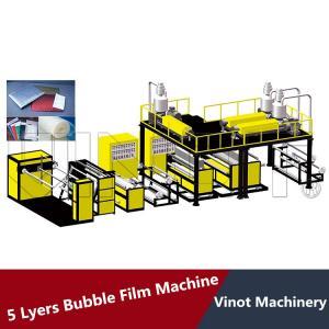 Quality 5 Layers Bubble Wrap Making Machine 38CRMOLA Screw Material , Polyethylene Bubble Film for sale