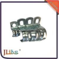 Buy cheap Zinc Galvanized Hydraulic Tube Saddle Clamps / Saddle Pipe Clips Vertical Without Rubber product