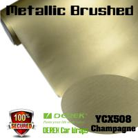 Buy cheap Matte Metallic Brushed Vinyl Wrapping Film - Matte Metallic Brushed Champagne product