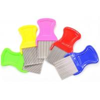 Buy cheap Multi Color ABS Handle Fine Toothed Flea Comb With Long Stainless Steel Pins product