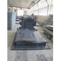 Buy cheap Bahama Blue Granite Headstones , Vizag Blue Granite Cemetery Cross Monuments product