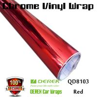 Buy cheap Chrome Mirror Car Wrapping Vinyl Film 3 layers - Chrome Red product