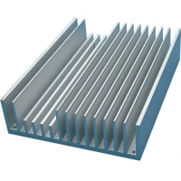 Buy cheap Mill Finish  0.8mm Frequency Conversion Radiator Aluminum Profiles product