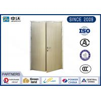 90 Minutes Fire Resistant Wooden Doors Electrostatic Powder Spray On Surface