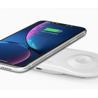 Buy cheap ABS + PCBA Wireless Cell Phone Charger 2 Coils 10W For IPhone X Watch / Samsung S8 product