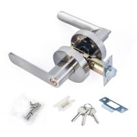 Buy cheap Satin Nickel Lever Set Lock Living Room Bedroom Bathroom Tubular Door Handle Lock product