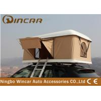 Buy cheap Hard Shell Fiberglass Vehicle Roof Tent , Car Roof Camper Tent 200D Polyester Flysheet product