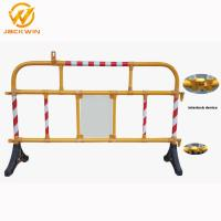 Buy cheap Safety Plastic Traffic Barriers , PVC Portable Road Barriers Control Size 1500*1000mm product
