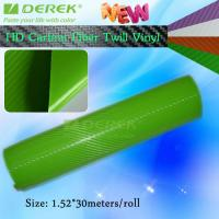 Buy cheap High-definition Carbon Fiber Vinyl Car Wrapping Film - Apple Green product
