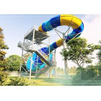 Buy cheap Durable Tornado Water Slide Stainless Steel Fastener 14.3m Platform Height product