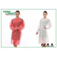 Buy cheap PP Disposable Lab Coats , custom disposable lab gowns Protective with Snap product