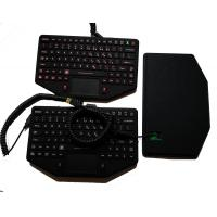 Buy cheap 89 keys IP65 military keyboard with sealed touchpad and coiled USB for mobile vehicle product