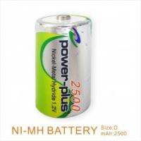 Buy cheap Electronic TOOLS nimh battery NI-MH D-2500/1.2V for digital camera, remote control car product