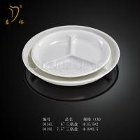 Buy cheap Melamine Snack plate Snack dish and LOGO plastic circular snack plate tray Melamine dish product