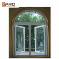 Buy cheap Tempered Glass Aluminum Casement Windows With Mosquito Net / Modern Architectural Windows product