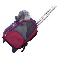 China Deluxe Rolling Backpack Pet Carrier with Wheels on sale