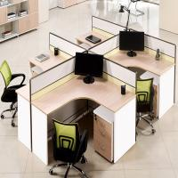 Buy cheap Open L Shape Call Center 4 Person Office Cubicle Size 1200*600*1200 Mm from wholesalers