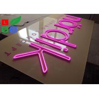Buy cheap Pink Led Neon Light Signs Flex Signage With Clear Backing For Shop Wall Branding from wholesalers