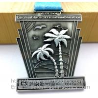 Buy cheap Antique pewter sports event metal medal with ribbon, vintage pewter metal ribbon medals product