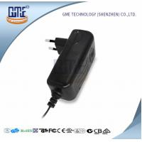 Buy cheap CCTV Cameras EU Plug Power Adapter AC DC  Black 90V - 264V AC Input Voltage product