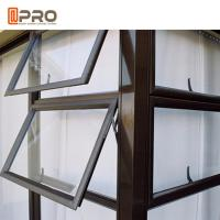 Quality Professional Australian standard double glazed aluminum awning/awing window for sale