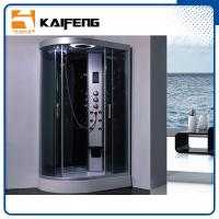 Buy cheap Tempered Glass Jet Quadrant Shower Cabin , Large Corner Shower Enclosures product