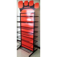 Buy cheap Professional Double Sided Metal Floor Display Stands for Clothes / Shoes product