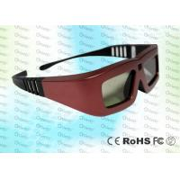 Buy cheap Cinema IR Active shutter adult 3D glasses GT100, red iron color product