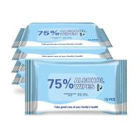 Buy cheap Antibacterial 75% Alcohol Cotton Pad Alcohol Cleaning Wet Wipes for Facial Hand product