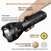Buy cheap Rechargeable / Dischargeable Search And Rescue Flashlight Good Heat Dissipation product
