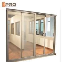 Buy cheap Aluminum Tempered Glass Entry Sliding Door Commercial Customized Size product