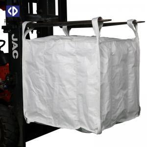 Quality Baffle FIBC Bulk Bags 1000KG Virgin Polypropylene Material 4 Side Seam Loops for sale