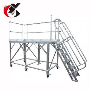 Buy cheap Silver Aluminum Aerial Work Platform , Folding Scaffold Platform 500KG product