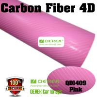Buy cheap 4D Glossy & Shiney Carbon Fiber Vinyl Wrapping Films--Pink product