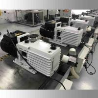 Buy cheap DRV16 0.55KW Lubricated Rotary Vane Vacuum Pump Dual Stage White Color product