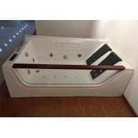 Quality Double Pillows Rectangular Abs Jacuzzi Whirlpool Bathtub With Computer Control for sale