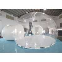 Buy cheap Transparent PVC Double Bubble One Tunnel Inflatable Bubble Dome Tent With Steel Frame product