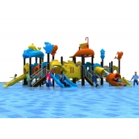 Buy cheap Sliding Jumping Crawling Galvanized Outdoor Water Playground product