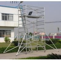 Quality Adjustable Lightweight Aluminium Mobile Scaffold / Roof Scaffold For Cleaning Window for sale