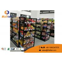 Buy cheap Grocery Customized Shop Display Fittings Rust Resistance Black Gondola Shelving product