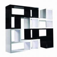 Buy cheap Bookcase with white and black high-glossy painting product