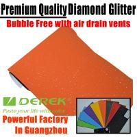 Buy cheap Brilliant Diamond Sanding Glitter Vinyl -- Sparkle Wrap Orange product